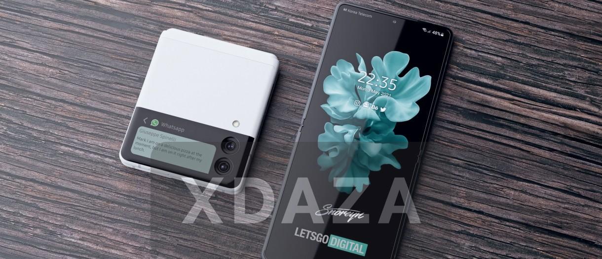 小姐姐专属手机:三星全新折叠手机Galaxy Z Flip 3将采用3.8mm超窄边框设计,预计8月发布