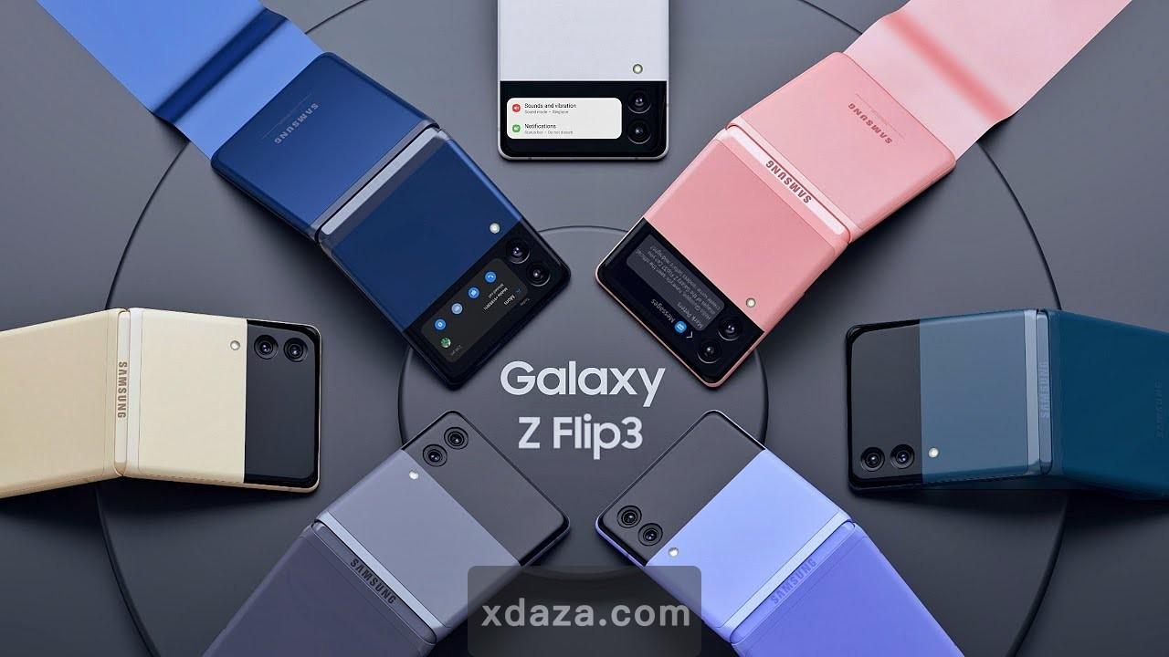三星Galaxy Z Flip 3真机图360度曝光:骁龙888+,四种配色,没有屏下摄像头